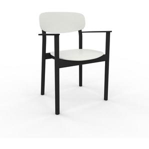 Chaise de salle à manger blanc de 52 x 82 x 58 cm au design unique, configurable