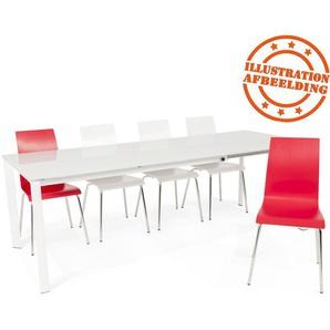 Chaise de salle à manger design ESPERA en bois rouge