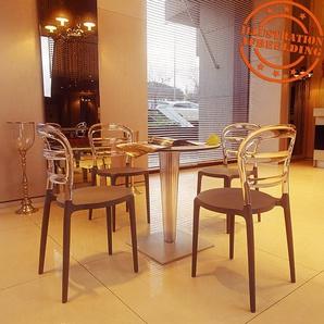 Chaise design BARO noire et transparente en matière plastique