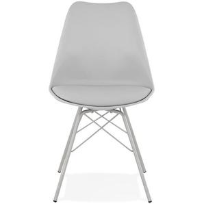 Chaise design BYBLOS grise style industriel