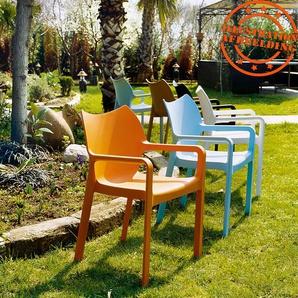 Chaise design de terrasse VIVA bleue en matière plastique