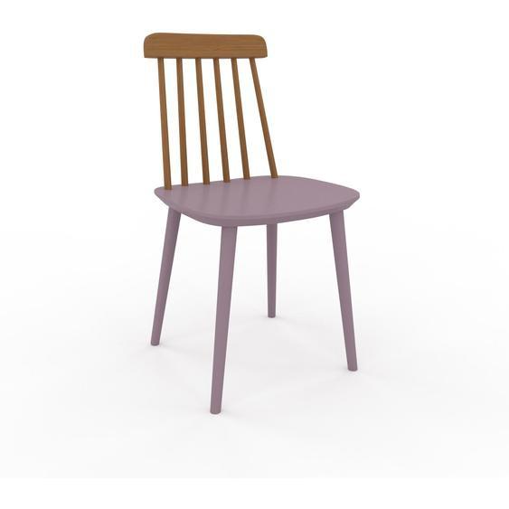 Chaise en bois Rose poudré de 43 x 82 x 44 cm au design unique, configurable