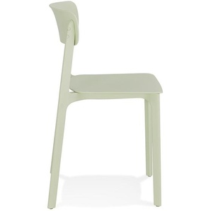 Chaise intérieur / extérieur empilable TROPICAL en matière plastique vert pastel