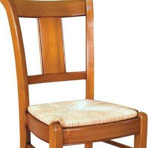 Chaise louis philippe dos courbé assise paille