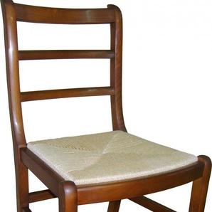 Chaise louis philippe teinte merisier assise paille