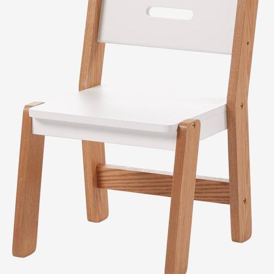 Chaise maternelle, assise 30 cm LIGNE ARCHITEKT blanc/bois