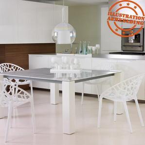 Chaise moderne GEO blanche en matière plastique