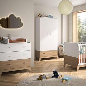 Chambre bébé complète Archipel Blanc & Chêne