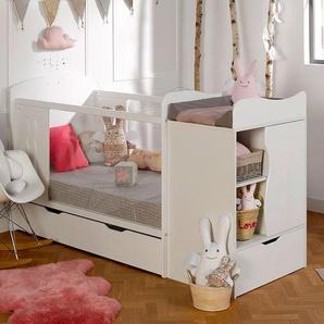 Chambre bébé évolutive Belem Blanc + Tiroir & Matelas