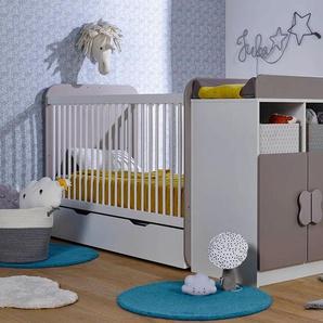 Chambre bébé évolutive Madrid Blanc & Lin + Tiroir & Matelas