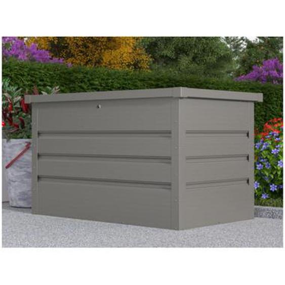 Coffre de rangement de jardin en acier galvanisé gris TOMASO - volume 295L
