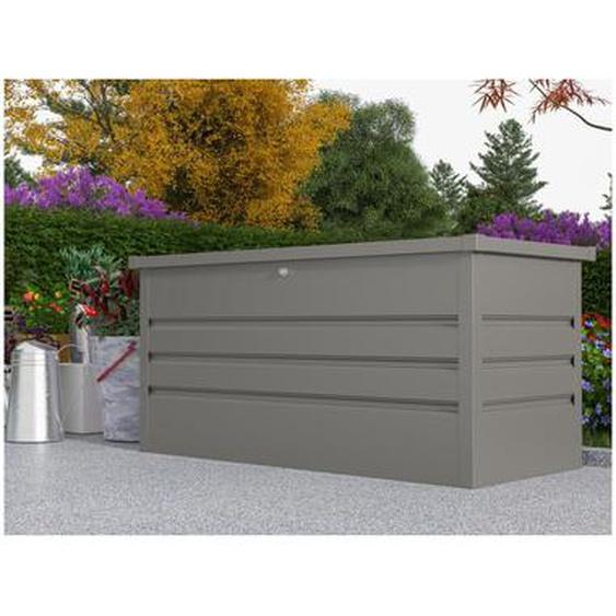 Coffre de rangement de jardin en acier galvanisé gris TOMASO - volume 400L
