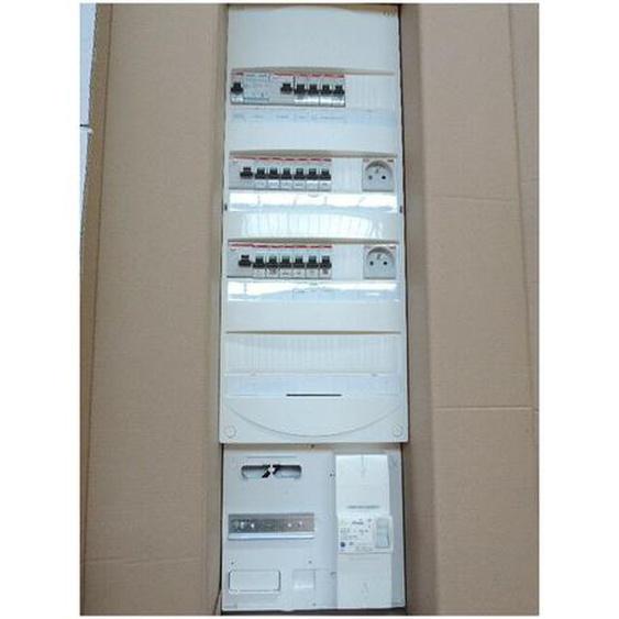 Coffret pré-équipé 4R avec protection + platine disjoncteur EDF 15-45A 500mA pour T3 sans chauffage electrique ABB 2412030