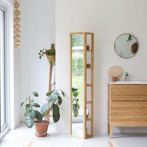 Colonne miroir droite en bois de teck 30 Twig