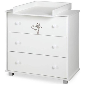 Commode à langer blanche Girafe