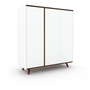 Commode - Blanc, contemporaine, élégantes, avec porte Blanc - 116 x 130 x 47 cm, personnalisable