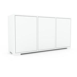 Commode - Blanc, contemporaine, élégantes, avec porte Blanc - 118 x 62 x 35 cm, personnalisable
