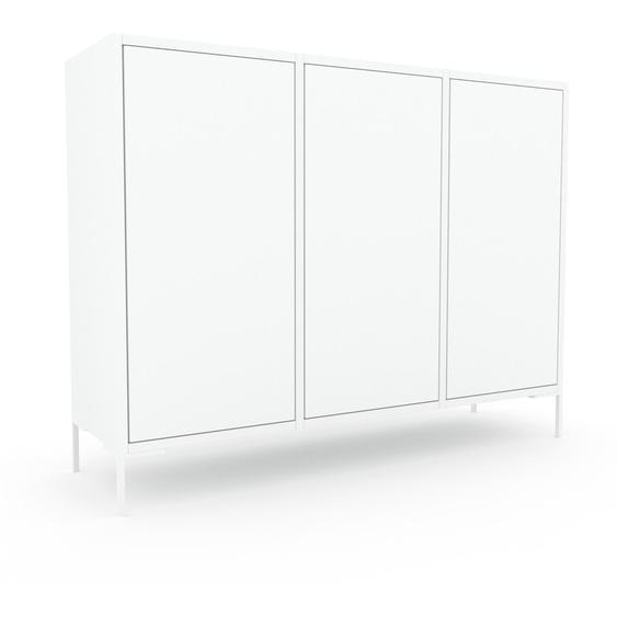 Commode - Blanc, contemporaine, élégantes, avec porte Blanc - 118 x 91 x 35 cm, personnalisable