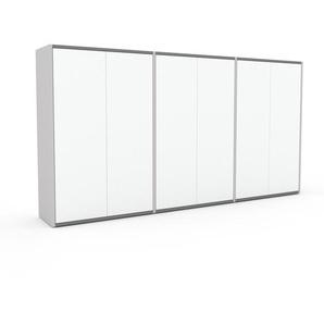 Commode - Blanc, contemporaine, élégantes, avec porte Blanc - 226 x 118 x 35 cm, personnalisable