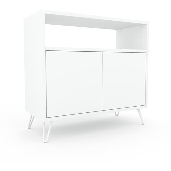 Commode - Blanc, contemporaine, élégantes, avec porte Blanc - 77 x 72 x 35 cm, personnalisable