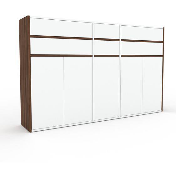 Commode - Blanc, moderne, raffinée, avec porte Blanc et tiroir Blanc - 190 x 118 x 35 cm