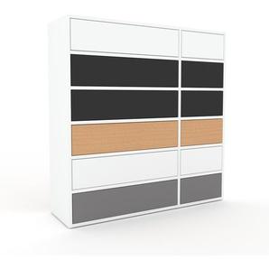 Commode - Blanc, pièce de caractère, sophistiquée, avec tiroir Blanc - 116 x 118 x 35 cm, personnalisable