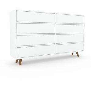 Commode - Blanc, pièce de caractère, sophistiquée, avec tiroir Blanc - 152 x 91 x 35 cm, personnalisable