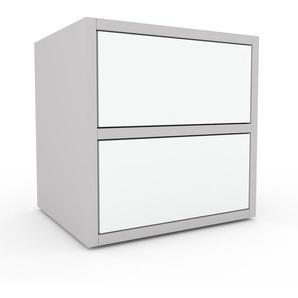 Commode - Blanc, pièce de caractère, sophistiquée, avec tiroir Blanc - 41 x 41 x 35 cm, personnalisable