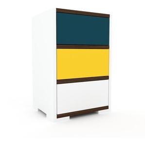 Commode - blanc, pièce de caractère, sophistiquée, avec tiroir blanc - 41 x 62 x 35 cm, personnalisable
