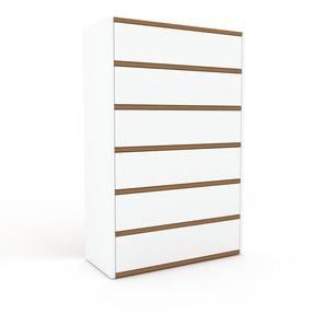 Commode - Blanc, pièce de caractère, sophistiquée, avec tiroir Blanc - 77 x 118 x 35 cm, personnalisable