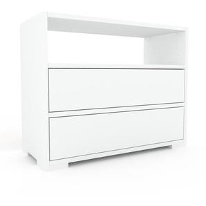 Commode - blanc, pièce de caractère, sophistiquée, avec tiroir blanc - 77 x 62 x 35 cm, personnalisable