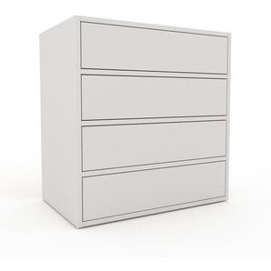 Commode - Blanc, pièce de caractère, sophistiquée, avec tiroir Blanc - 77 x 80 x 47 cm, personnalisable