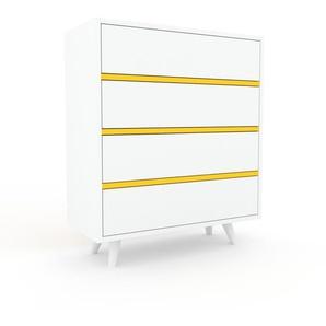 Commode - blanc, pièce de caractère, sophistiquée, avec tiroir blanc - 77 x 91 x 35 cm, personnalisable