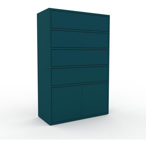 Commode - Bleu, moderne, raffinée, avec porte Bleu et tiroir Bleu - 77 x 118 x 35 cm