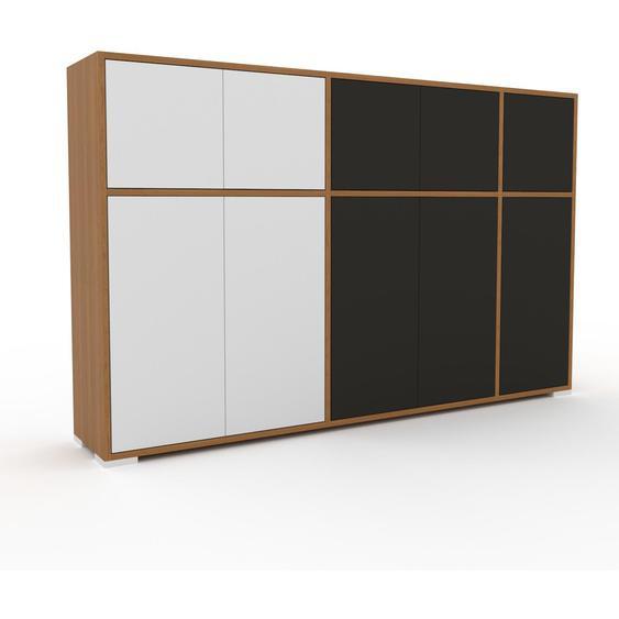 Commode - Chêne, contemporaine, élégantes, avec porte Anthracite - 190 x 120 x 35 cm, personnalisable