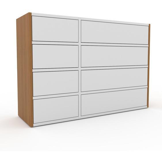 Commode - Chêne, pièce de caractère, sophistiquée, avec tiroir Blanc - 116 x 80 x 35 cm, personnalisable