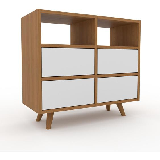 Commode - Chêne, pièce de caractère, sophistiquée, avec tiroir Blanc - 79 x 72 x 35 cm, personnalisable