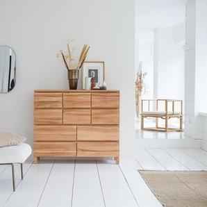 Commode en bois de teck 10 tiroirs Milano