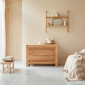 Commode en bois de teck 2 tiroirs Minimalys