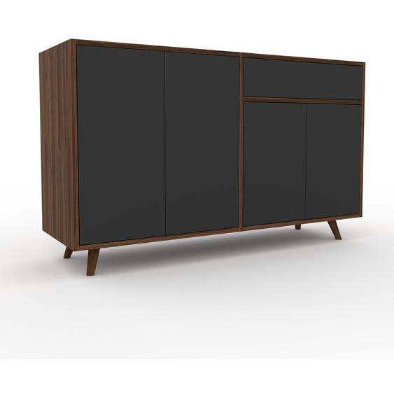 Commode - Graphite, moderne, raffinée, avec porte Graphite et tiroir Graphite - 152 x 91 x 47 cm