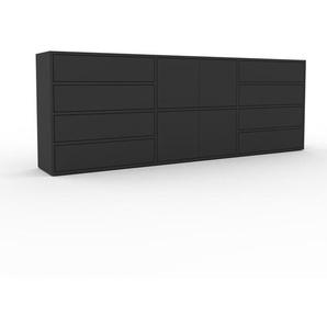 Commode - anthracite, moderne, raffinée, avec porte anthracite et tiroir anthracite - 226 x 80 x 35 cm