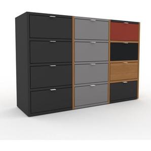 Commode en chêne, bois massif, aspect naturel, pour chambre de qualité - 118 x 80 x 35 cm