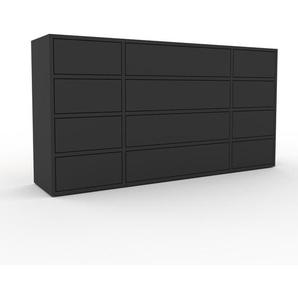 Commode - Anthracite, pièce de caractère, sophistiquée, avec tiroir Anthracite - 154 x 80 x 35 cm, personnalisable