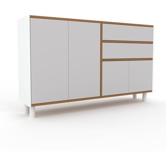Commode - Gris clair, moderne, raffinée, avec porte Gris clair et tiroir Gris clair - 152 x 91 x 35 cm
