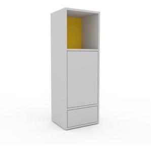 Commode - Gris clair, moderne, raffinée, avec porte Gris clair et tiroir Gris clair - 41 x 118 x 35 cm