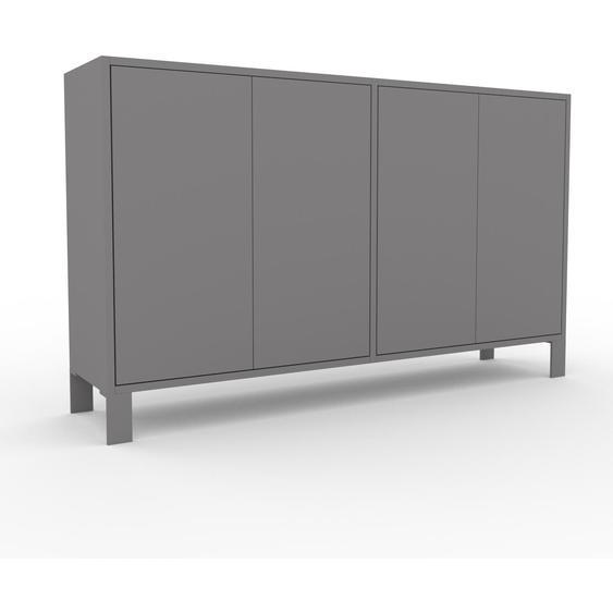 Commode - Gris, contemporaine, élégantes, avec porte Gris - 152 x 91 x 35 cm, personnalisable