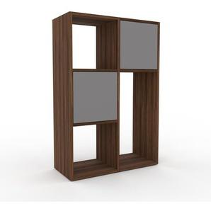 Commode en noyer, bois massif, aspect naturel, pour chambre de qualité - 79 x 118 x 35 cm