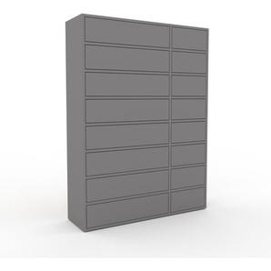 Commode - Gris, pièce de caractère, sophistiquée, avec tiroir Gris - 116 x 157 x 35 cm, personnalisable