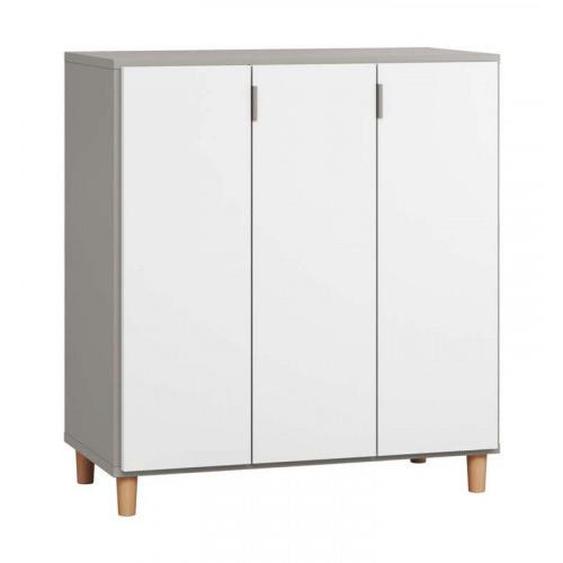 Commode grise 3 portes SIMPLE - .fr