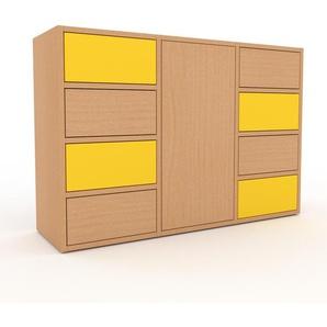 Commode - Hêtre, moderne, raffinée, avec porte Hêtre et tiroir Hêtre - 118 x 80 x 35 cm